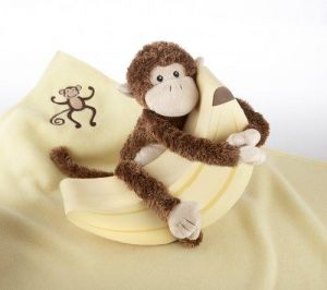 Baby Aspen Plush Monkey Magoo and Blankie Too in Keepsake