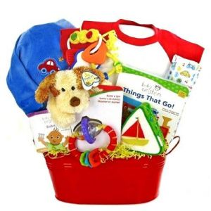 Bucket 'o Fun New Baby Boy Gift Basket - Great Shower Gift Idea