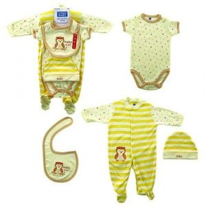 Hudson Baby Gift Set, 5 Piece, Baby Owl, 3-6 Months