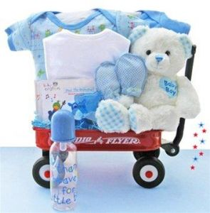 All Boy Wagon Baby Shower Gift Basket for Newborns