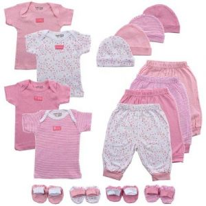 Luvable Friends 16-Piece Mix N Match Layette Set, 0-6 Months,