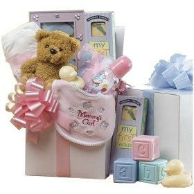 Sweet Baby Care Package with Teddy Bear - New Baby Gift Basket