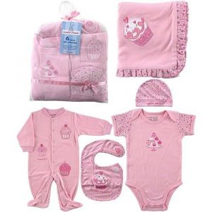 Hudson Baby 6-Piece Little Sweetie Girls Gift Collection -