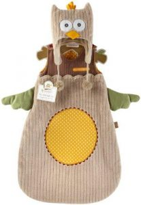 Baby Aspen My Little Night Owl Snuggle Sack and Cap, 0-6